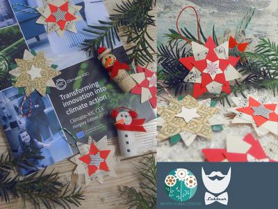 Maradék papírból karácsonyfadísz