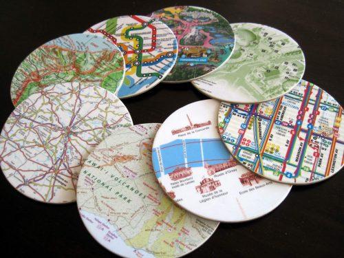 poháralátét térkép