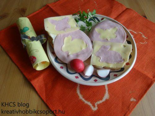 Süti kiszúró op-art szendvics