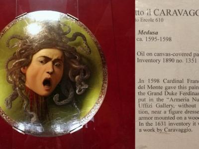 Caravaggio: Medusa - Uffizi képtár, Firenze