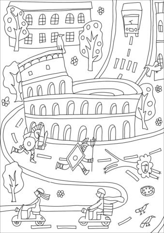 2-supercoloring.com-14-colosseum-coloring-page